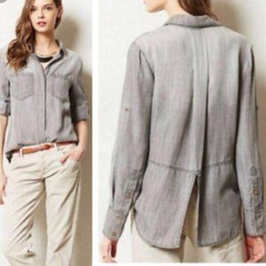 Cloth & Stone Army Green Soft Button Down Blouse
